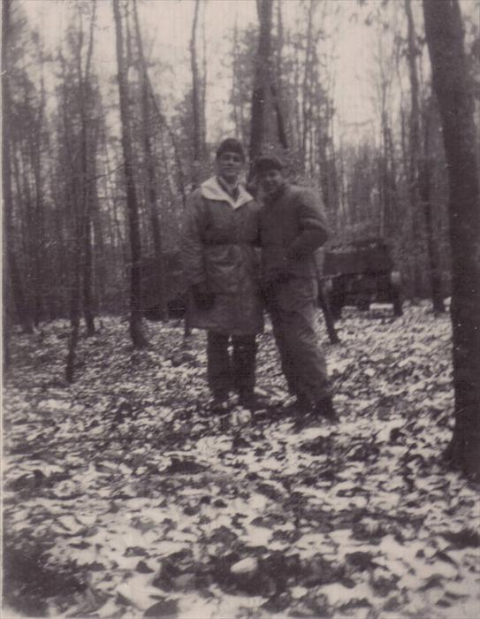 Dad, and Smitty, 1st ID Hq Co men on manuever 1951-1953
