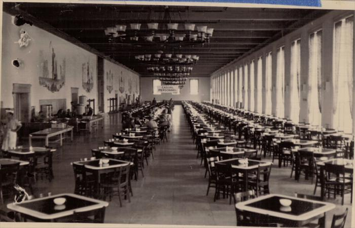 Sonthofen mess hall.  The murals may have been added after U.S. Constabulary left.