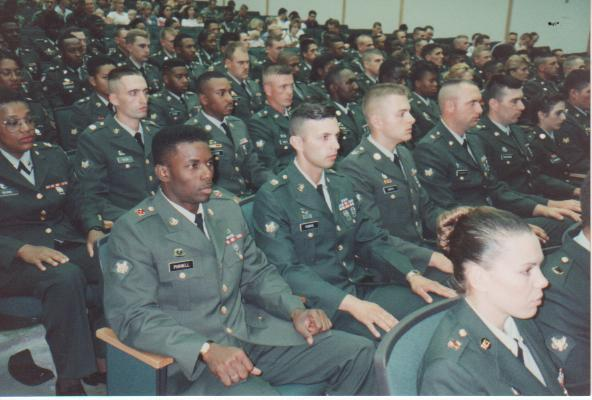 Army PLDC graduation at Fort Knox, KY, June 1995.