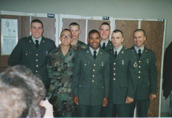 Squad photo taken at Basic Training, Fort Leonard Wood, November 1992.