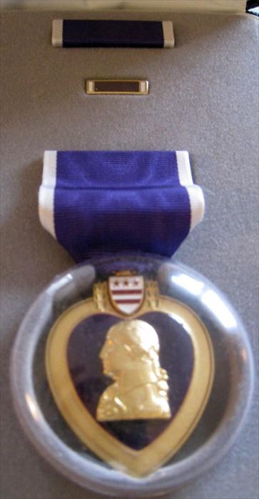 On 5/20/1970 in Cambodia, Eldon was awarded the Purple Heart for being hit in the abdomen by shrapnel.