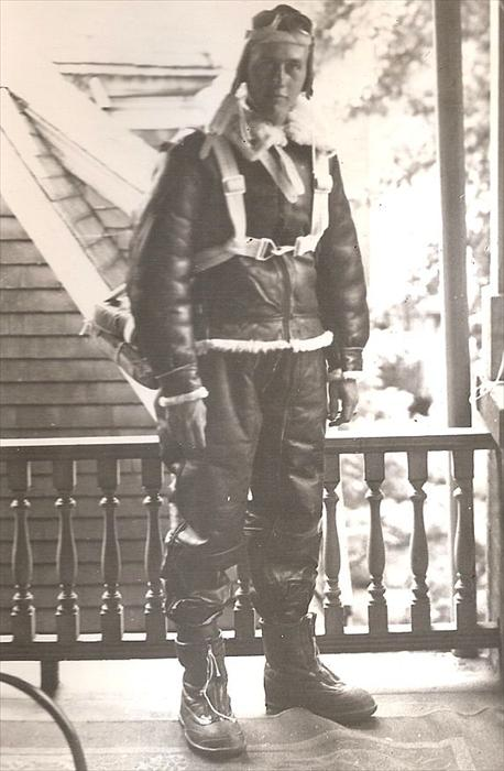 All geared-up - Don P. Herron during his first year in the US Army Air Corps