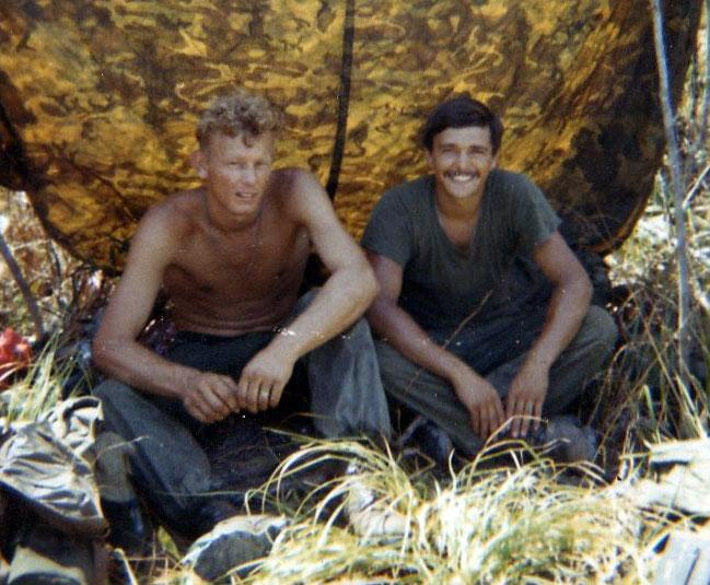 Left Roy and Eldon right in Vietnam.