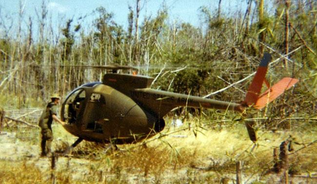 Chopper taking off in Vietnam.