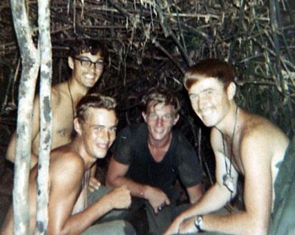Left Brian, Mike, Bob, and Frank in Vietnam.