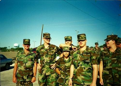 Me on far left, with a few of my friends in 91B field medic school in late 1995.