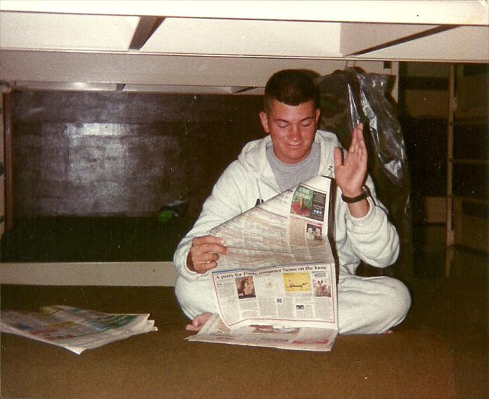 Time to read, hardly, this was taken during 91B field medic school, Foxtrot Company 232 Medical Battalion in 1995.