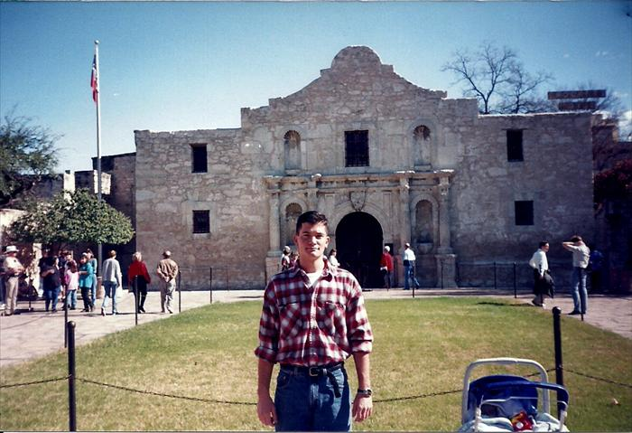 While Stationed at Fort Sam Houston, went to the Alamo, the mall was basically right next to it, crazy. Taken in 1996.