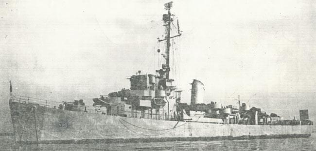 USS Koiner Destroyer Escort.