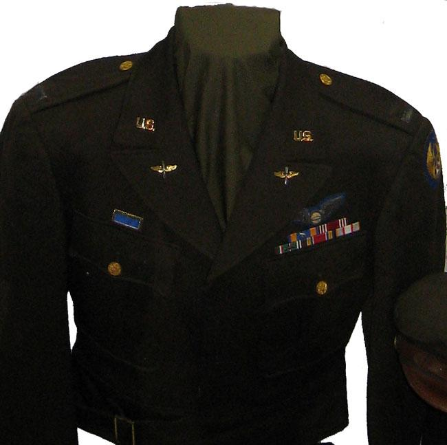 Michael's Ike jacket worn in World War II, tailor made in England .