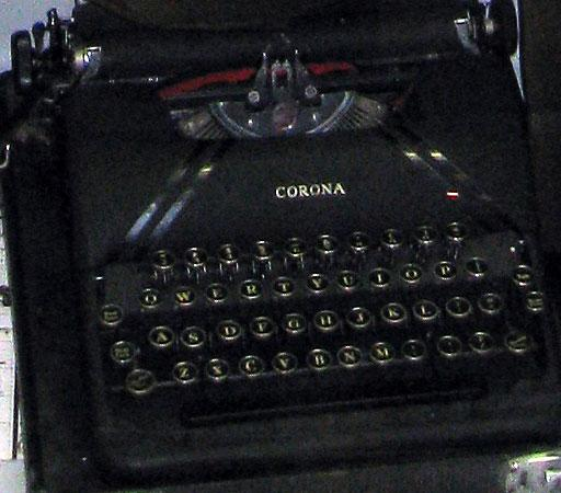1942 Typewriter Smith Corona used in World War II by Michael Pohorilla. He paid $45.12 for it and even used it in college after the war.