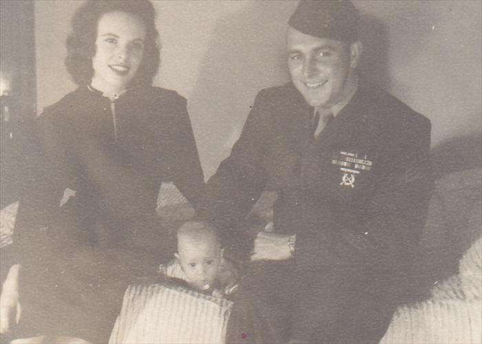 Gene, his wife Patricia, and their first son, Phillip