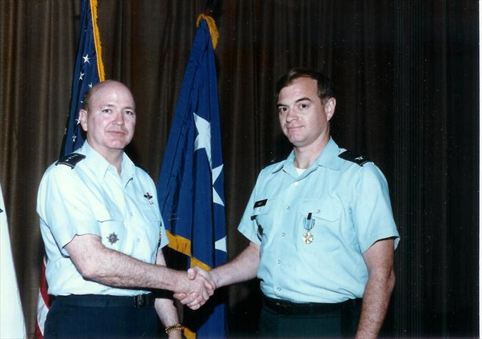 Award Ceremony for Col Moot in 1989