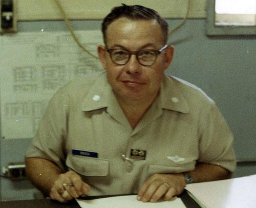 Briggs office, Air Force Advisory Group, Vietnam, 1969-70.