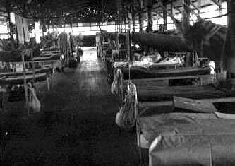 Interior of barracks, Ft. William McKinley, PI 1946.