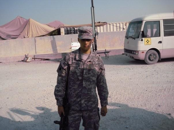 Brandon while in Iraq