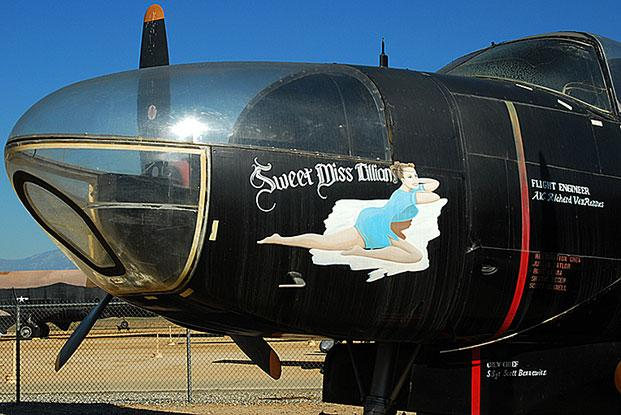 Close up of the nose section of an RB-26C
