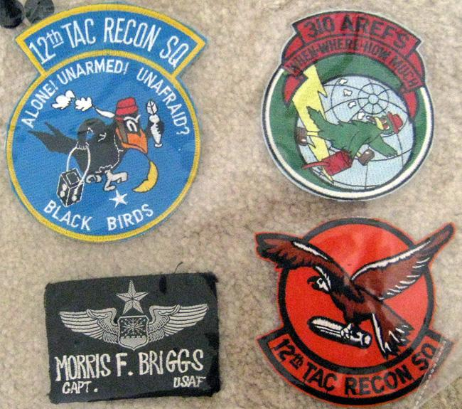 12th TAC Recon Squadron and 310 AREFS patches.