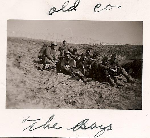 Carlos Haaland in center (dogtags), with his company in Italy at the front.