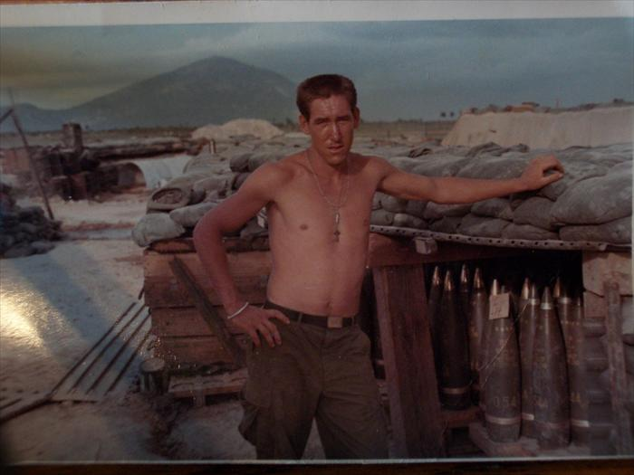 Myself at the ammo bunker, Fire support Base Washington 1969