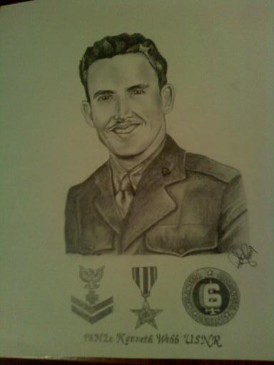 A portrait of Kenneth Webb drawn by me