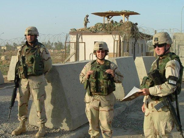 On duty at the EECP.  From left-to-right: Staff Sergeant Rene Dolan, First Lieutenant Anne-Marie Stormo and myself.