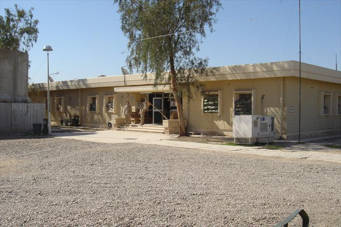 An example of one of the building seen throughout Anaconda that were refurbished and used as battalion headquarters.