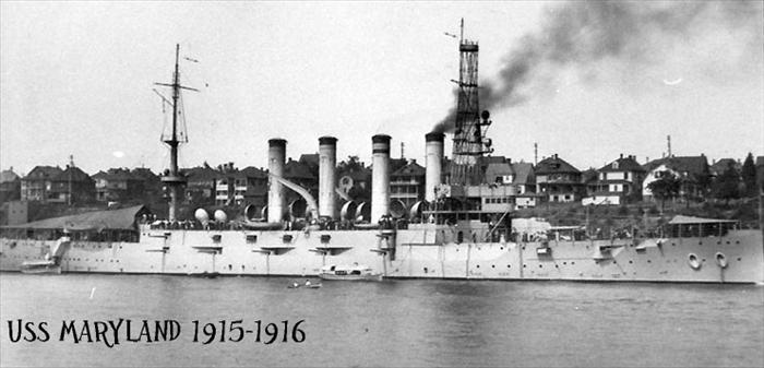 Chief Morris served aboard the USS Maryland from 1915-1916.
