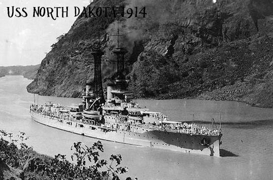 Assigned to the USS North Dakota in 1914.