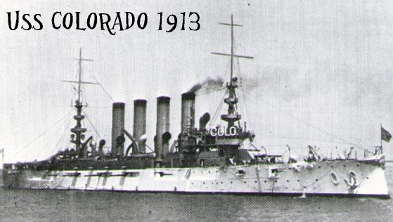 Assigned aboard the USS Colorado, 1913.