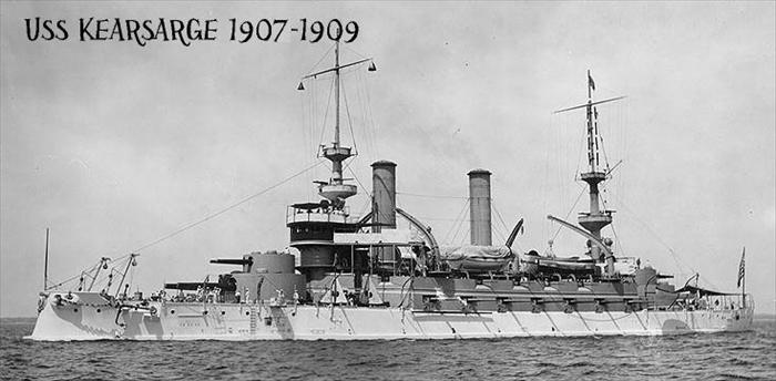 Chief Morris served aboard the USS Kearsarge from 1907-1909.