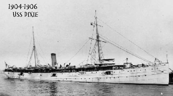 Served aboard the USS Dixie, 1904-1906