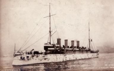 Served aboard the USS Columbia sometime during the early 1900's.