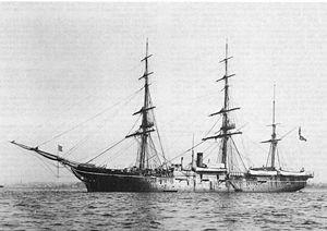 First ship he served aboard during his training cruise, aboard the Revolutionary War frigate, USS Alliance in 1904.